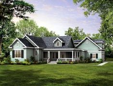 Elevation of Country   Farmhouse  Victorian   House Plan 90277