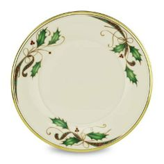 Lenox Holiday Nouveau 9 Accent Plate by Lenox. $31.45. Accented with 24 karat gold; bears three motifs on its border. Plate of 9-inch diameter. Safe in the dishwasher for convenient cleanup. Crafted of Lenox ivory bone china. Sprigs of holly framed in gold create a festive look for this accent plate. The perfect addition to your holiday décor, the plate is decorated with the popular Holiday motif. Crafted of ivory bone china and rimmed in precious gold, it wi...