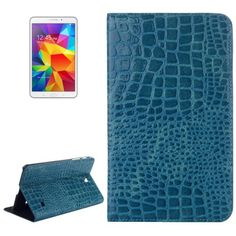 For+Tab+4+8.0+Blue+Crocodile+Texture+Leather+Case+with+Holder