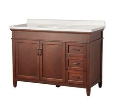 """View the Foremost FMASGAW4922 Ashburn 49"""" Vanity Package with Engineered Stone Vanity Top at FaucetDirect.com."""