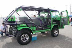 Green Baja Bus (vw Volkswagen camper kombi campervan)