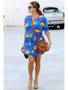 Eva Mendes isn't color shy