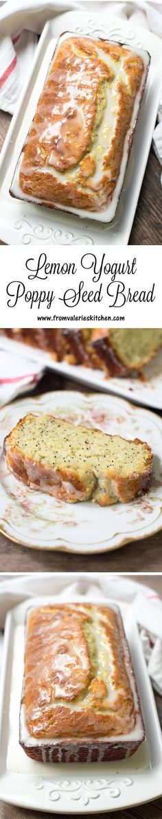 A tender, very moist bread full of bright lemon flavor and draped in a sweet-tart icing. ~ www.fromvaleriesk...