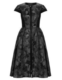 Black Camouflage Jacquard Dress | Giles | Avenue32 #dress