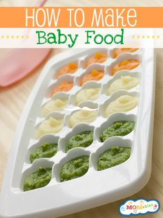 How to make baby food- clean eating for baby