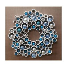 Wreath Modern PVC Wall Decor by RedSketchDecor on Etsy
