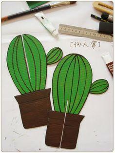 pintar y jugar: Manualidades: cactus hecho cartón