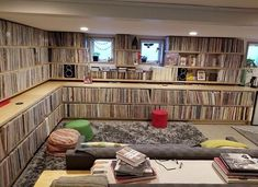 Audio rooms ideas Image may contain: people sitting and indoor room ideas - Tracy - Home Music Rooms, Music Studio Room, Record Shelf, Vinyl Record Storage, Chambre Indie, House Paint Interior, Interior Design, Lp Regal, Cd Storage