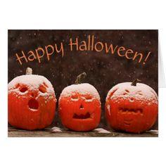 Funny Pumpkin Halloween Card - diy cyo customize create your own personalize