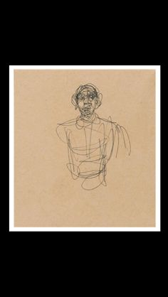 Alberto Giacometti - Study of a Man - Ink on paper - 20,3 x 11,4 cm