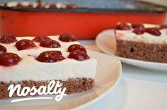Joghurtkrémes-meggyes piskóta | Nosalty Hungarian Cake, Hungarian Recipes, Cobbler, Cheesecake, Paleo, Cupcakes, Food, Cupcake Cakes, Cheesecakes
