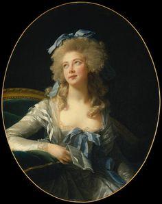 Madame Grand, Oil by Louise Elisabeth Vigée Le Brun (1755-1842, France)