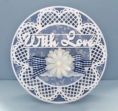 With Love Lacey Circle 3 Card