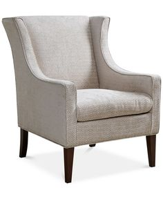 Addy Wing Chair, Direct Ship - Chairs & Recliners - Furniture - Macy's  $350