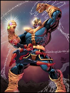 Spiderman vs Thanos #SonGokuKakarot