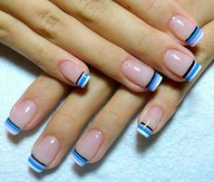 Pin by ierima florica on nails ♥ in 2019 French Nail Designs, Nail Polish Designs, Nail Art Designs, Magic Nails, Plaid Nails, Pretty Nail Art, French Tip Nails, Hot Nails, Fabulous Nails