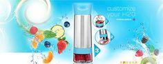 Buy Zing Anything - Aqua Zinger Flavored Water Maker Pink - 20 oz. at LuckyVitamin.com
