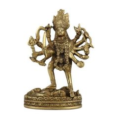 Amazon.com: Goddess Kali Statue and Sculpture Hindu Spiritual Art; Brass; 3.5 X 1.75 X 6 Inches: Furniture & Decor