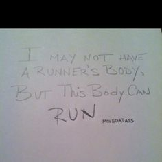 Run... Never thought I would say this!!!