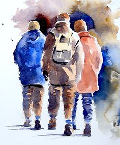How to Paint Figures in Watercolour, and lots of free tutorials, by Joanne Thomas at ArtTutor.com