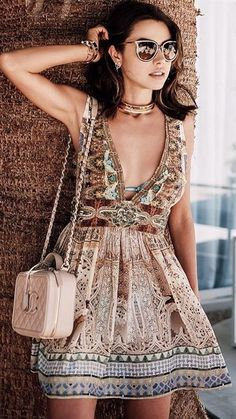 From Casual To Wedding Guest, 55 Trending Summer Ways To Inspire Your Boho Chic Style Fashion Mode, Look Fashion, Fashion Outfits, Fashion Photo, Street Fashion, Gypsy Style, Bohemian Style, Boho Chic, Estilo Hippie Chic