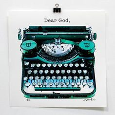 Dear God, Print, $79, now featured on Fab.