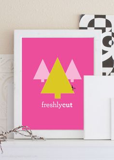 Free printable christmas art a fun freshly cut christmas tree