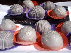 Silver Cake balls (pun intended) - 50 Shades Book Club treat?