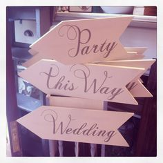 Wedding and Party arrows now in stock!!! Limited stock so pop in soon....