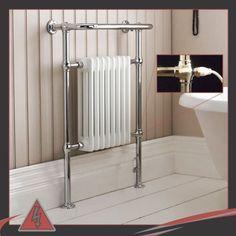 £185-£210 Electric Element 673mm-w-x-963mm-h-Old-Colwyn-Electric-500W-PTC-Heated-Towel-Rail-Radiator