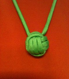 Paracord monkeys fist necklace