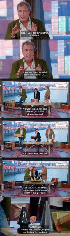 The Grand Tour in Netherlands! Top Gear Funny, The Funny, James May, Jeremy Clarkson, Tv Shows Funny, British Humor, Tv Land, Grand Tour, Orangutan