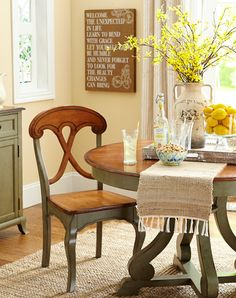 Start the day with an inspirational message in the breakfast nook.