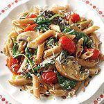 Spinach, Tomato and Portobello Pasta