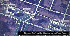 La mappatura OpenStreetMap con la rappresentazione della nuova disposizione di…
