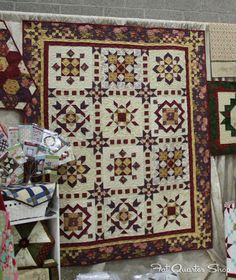 Charming and Quaint Block of the Month by This & That Pattern Company, seen at Spring Quilt Market