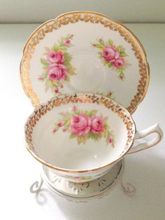 English Bone China Collingwood Tea Cup and by MariasFarmhouse