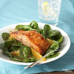 Salmon and Wilted Greens