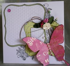 19. 50th birthday card with butterfly #handmade #butterflies