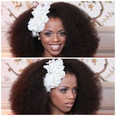 natural Afro wedding hairstyles