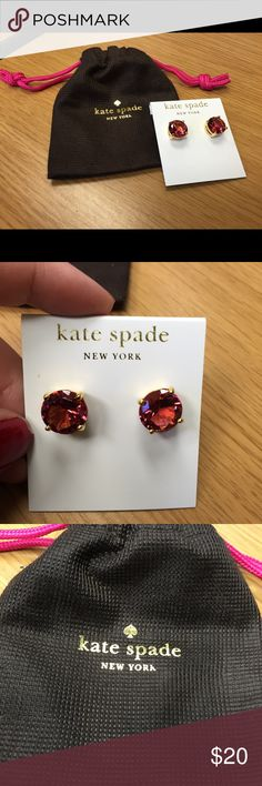 Kate Spade New York earrings. These are gorgeous pink round studs - never been worn! * BUY 2+ and save 25%! * Accessories