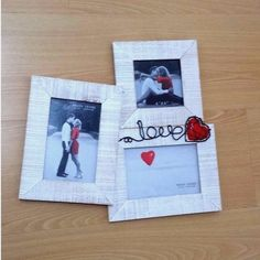 3D Photo Picture Love Wood & Glass FRAME Romantic Adult Gift Three in One | eBay