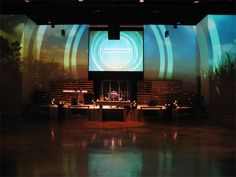 Projection and Candles   Church Stage Design Ideas