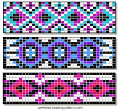 free bead loom patterns | beading-pattern-barrettes-e