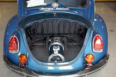 The traditional motor in Steve Champion's 1971 VW Bettle has been replaced with a high torquing electric motor. Champion teamed up with Peter Hansen, from Evolve-It Motors out of Colorado, to turn the car into a fully electric vehicle.