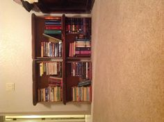 Old drawers make great bookcases