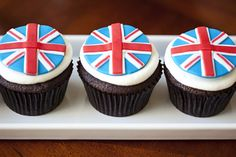 London-inspired cupcakes