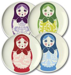 Russian doll plates