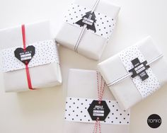 Printable Tags and White Paper | Community Post: 15 Stunning Gift Wrapping Ideas For The Minimalist In You