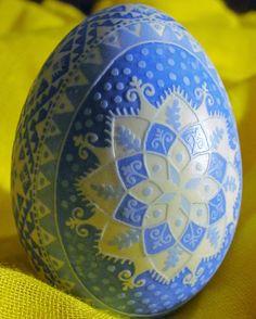 Etched Duck Egg Pysanka by Katrina Lazarev